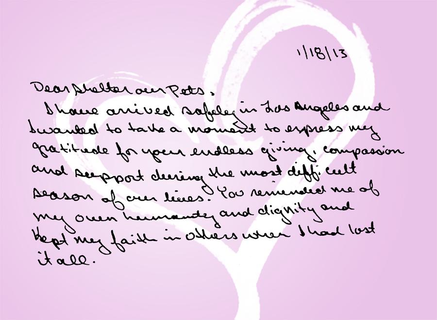 Carrie Vday letter